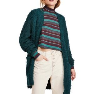 {Free People} Once in A Lifetime Green Cardigan